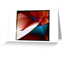 Angles abstract geometric fractal art Greeting Card