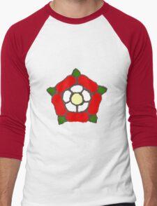 English Rose Men's Baseball ¾ T-Shirt