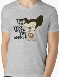 Try To Take Over The World Mens V-Neck T-Shirt
