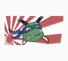 Ninja Turtle Leonardo - Flag! (blue) by Jonny2may