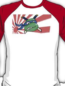 Ninja Turtle Leonardo - Flag! (blue) T-Shirt