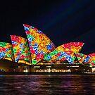 Flower Sails - Sydney Opera House - Sydney Vivid Festival by Bryan Freeman