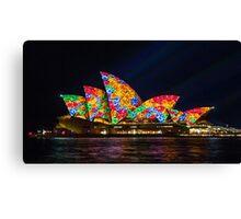 Flower Sails - Sydney Opera House - Sydney Vivid Festival Canvas Print
