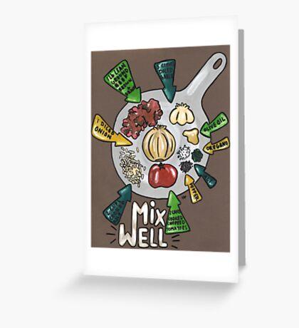 Spanish Rice Recipe Greeting Card