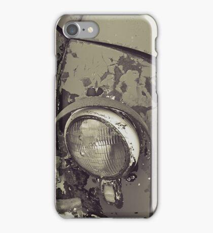 Rusty Car - Black and White iPhone Case/Skin