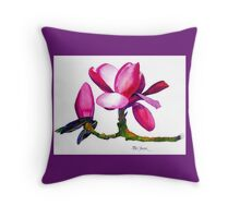 Marwood Spring Magnolia Watercolor Throw Pillow #2 Throw Pillow