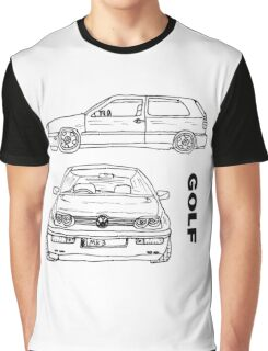 VW Golf Mk 3 (3 of 5) Graphic T-Shirt