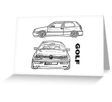 VW Golf Mk 3 (3 of 5) Greeting Card