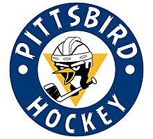 Pittsbird Hockey Bird Photographic Print