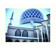 The Shah Alam Mosque Art Print