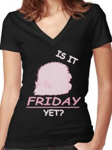 Fluffle Puff - Is It Friday Yet? Women's Fitted V-Neck T-Shirt