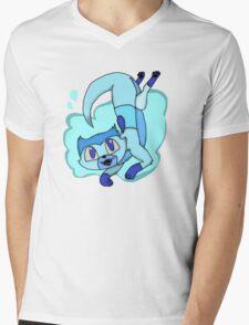 Lapis Lazuli otter Mens V-Neck T-Shirt