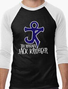 The Maniacal Jack Krueger Logo Men's Baseball ¾ T-Shirt