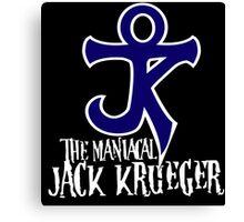 The Maniacal Jack Krueger Logo Canvas Print
