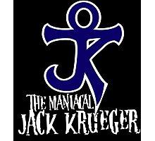The Maniacal Jack Krueger Logo Photographic Print