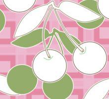 Seamless pattern with cherries print background Sticker