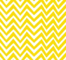 Yellow Crazy Chevron by crycepaul