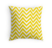 Yellow Crazy Chevron Throw Pillow