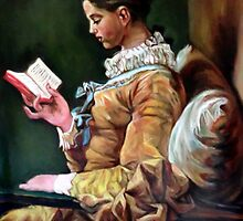 The Reader after Fragonard by Hidemi Tada