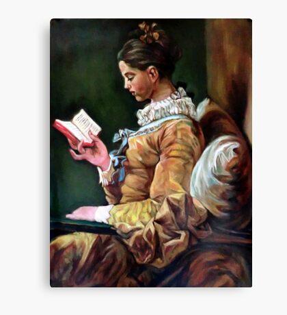 The Reader after Fragonard Canvas Print