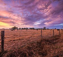 Australian Rural Sunset by Ross Chapman