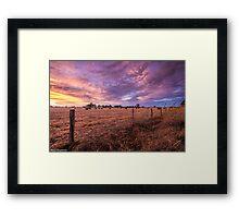 Australian Rural Sunset Framed Print