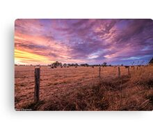 Australian Rural Sunset Canvas Print