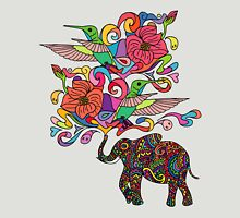 Lucky Elephant & Hummingbirds Unisex T-Shirt