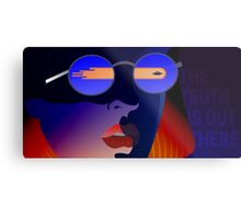 Dana Scully from X-Files Metal Print