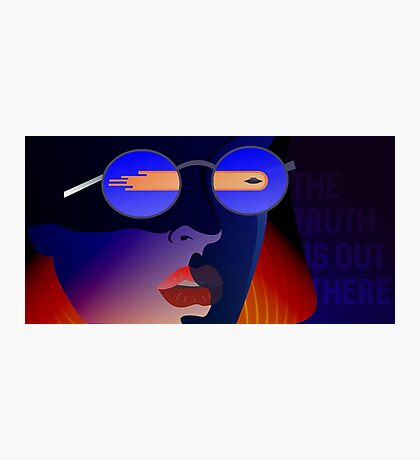 Dana Scully from X-Files Photographic Print