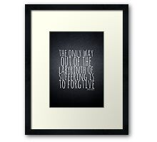 John Green Typography Quote Labyrinth Framed Print