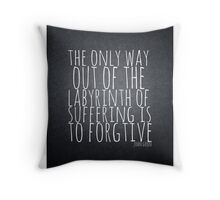 John Green Typography Quote Labyrinth Throw Pillow