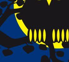 full moon owl ast Sticker