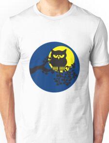 full moon owl ast Unisex T-Shirt