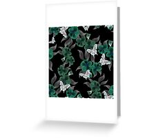 Seamless floral pattern background flowers ornament wallpaper textile Illustration Greeting Card