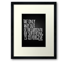 John Green Typography Quote Only Way Framed Print