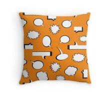 Comic Book Pow Orange Throw Pillow