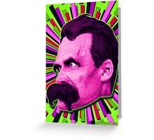 Nietzsche Burst 7 - by Rev. Shakes Greeting Card