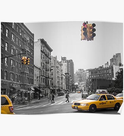 New York Cabs Poster