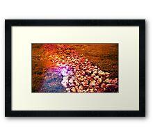 Blood Red Stone Framed Print