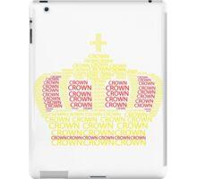 Crown Typography iPad Case/Skin