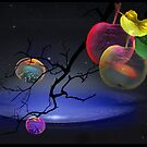 Apple Spheres Pillow by Igor Zenin