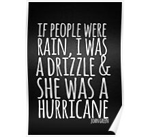 John Green Typography Quote Rain Poster