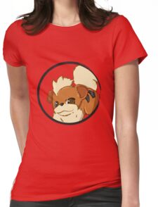 PokeMon - Growlithe Womens Fitted T-Shirt