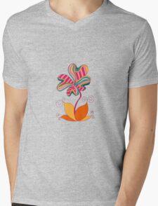 cute flower Mens V-Neck T-Shirt