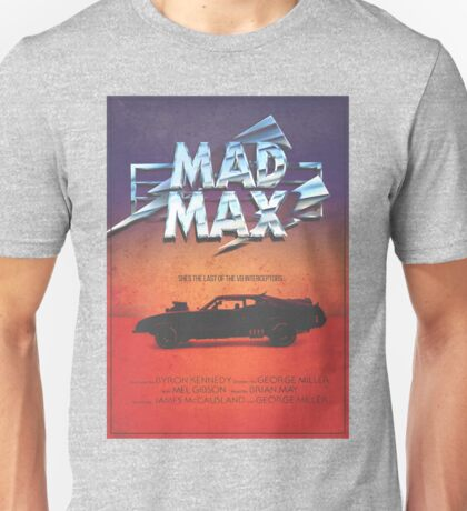 The Last of the V8's - Vintage Custom Mad Max Poster  Unisex T-Shirt