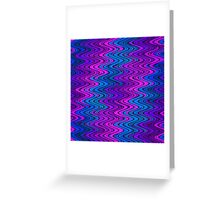 WAVY-2 (Purples, Violets & Turquoises)-(9000 x 9000 px) Greeting Card