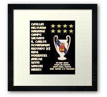 Real Madrid 2000 Champions League Winners Framed Print