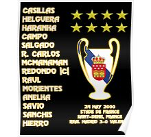 Real Madrid 2000 Champions League Winners Poster