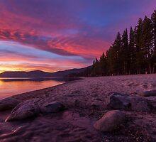 Dusk at Incline Beach by Richard Thelen
